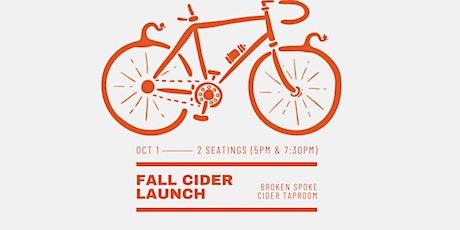 Fall Seasonal Cider Launch (Late) tickets