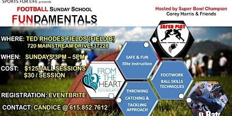Football Sunday School tickets
