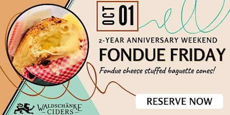 Fondue Friday Pop-Up tickets