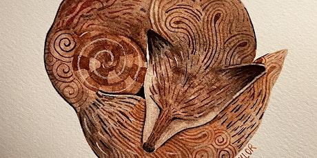 Asleep in the Fox Zen -  A Zentangle® inspired Watercolor Workshop tickets