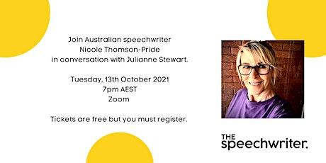 Speechwriting conversations: Julianne  Stewart tickets
