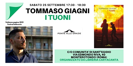"""Presentazione libro """"I tuoni"""" di Tommaso Giagni biglietti"""