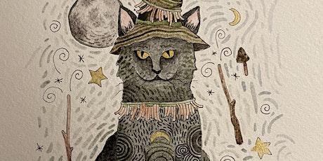 Halloween Cat! - A Zentangle® inspired Watercolor Workshop tickets