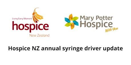 Porirua | Hospice NZ annual syringe driver update tickets