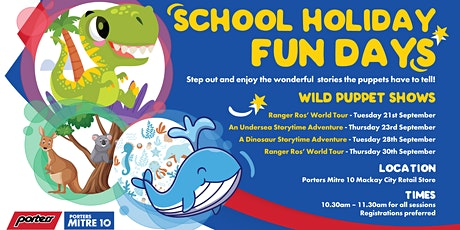 School Holiday Puppet Shows at Porters tickets