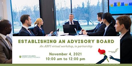 Establishing an Advisory Board tickets