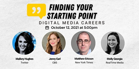 Finding Your Starting Point: Digital Media Careers tickets