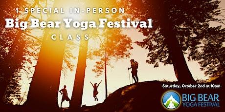 1 Yoga Class for Big Bear Yoga Festival at Grateful Heart Animal Sanctuary! tickets