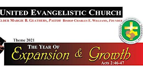 UNITED EVANGELISTIC CHURCH - SUNDAY MORNING SERVICE tickets