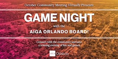 AIGA Orlando Community Meeting: Game Night! tickets