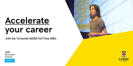 AGSM Accelerated MBA Webinar tickets