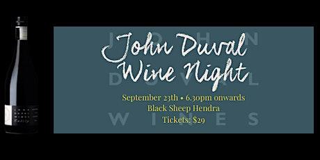 John Duval Wine at Black Sheep Hendra tickets