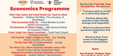 Economics taster programme for Year 10s, Year 11s and Year 12s tickets