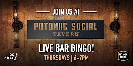 Potomac Social Bingo  with DC Fray tickets