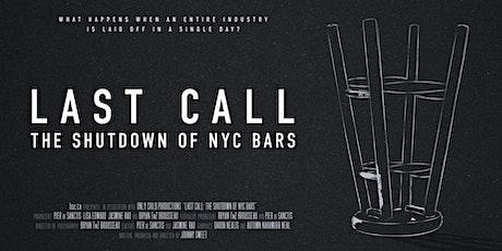 Program 17 - 'Last Call: The Shutdown of NYC Bars', COVID-19 related shorts tickets