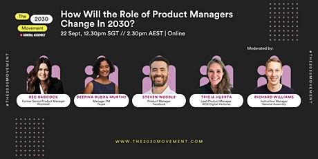 2030 Movement: How Will The Role Of Product Managers Change In 2030? tickets
