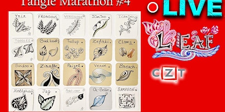 Zentangle - Tangle Marathon #4 - LEAF  Category Tangles - Draw with CZT tickets