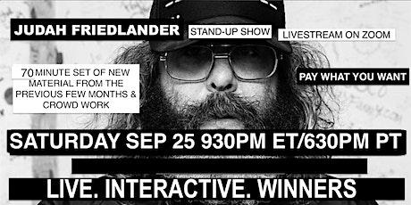 Judah Friedlander Saturday Sep 25  930pm ET/630pm PT tickets