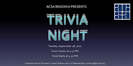 Membership Drive - Trivia Night tickets