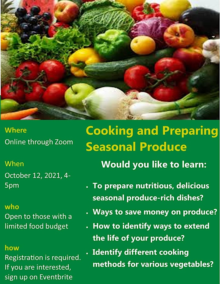Intro to Cooking and Preparing Seasonal Fruits and Vegetables image