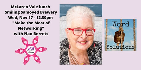 McLaren Vale lunch - Women in Business Regional Network - Wed 17/11/2021 tickets