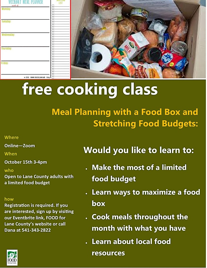 Meal Planning with a Food Box and Stretching a Limited Food Budget image