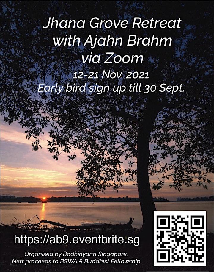 Jhana Grove 9-Day Retreat with Ajahn Brahm via Zoom image