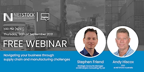 Navigating your Business through Supply Chain and Manufacturing Challenges tickets