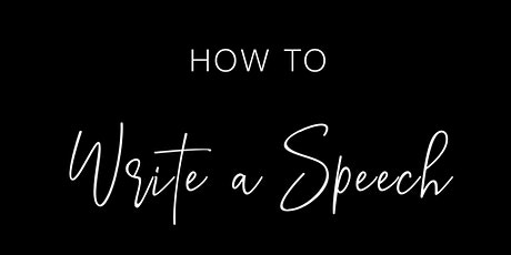 How to Write an Effective Speech or Presentation tickets