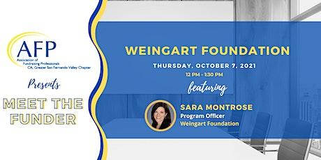 Meet the Funder: Weingart Foundation with Sara Montrose tickets