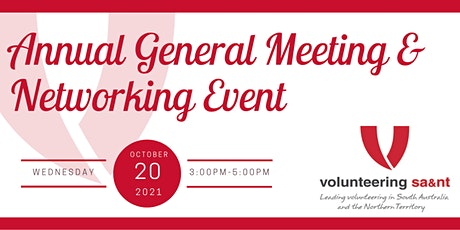 Volunteering SA&NT AGM & Networking Event tickets