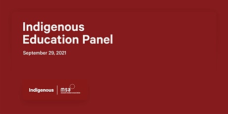 Indigenous Education Panel tickets