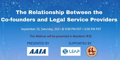 The Relationship Between the Co-founders and Legal Service Providers tickets