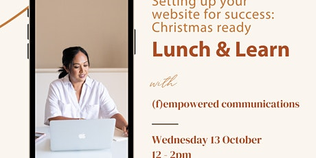 Lunch and Learn: Setting up your website for success tickets