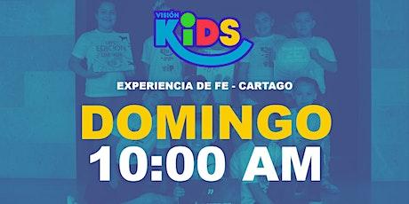 Kids Cartago. Experiencia de Fe  10:30am entradas
