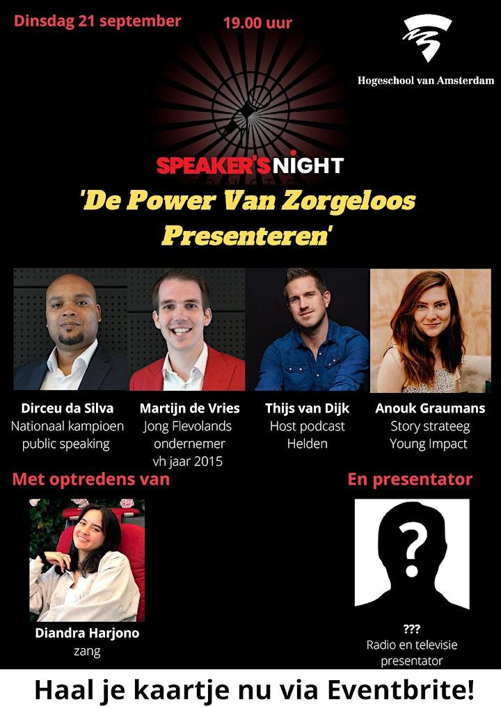 Afbeelding van Speaker's Night - De Power Van Zorgeloos Presenteren