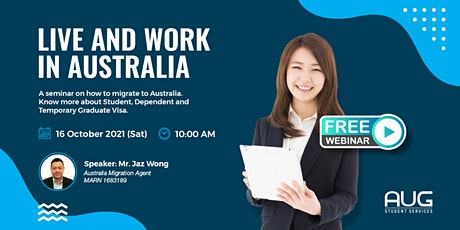 Interested to live and work in Australia? Discover your options! tickets
