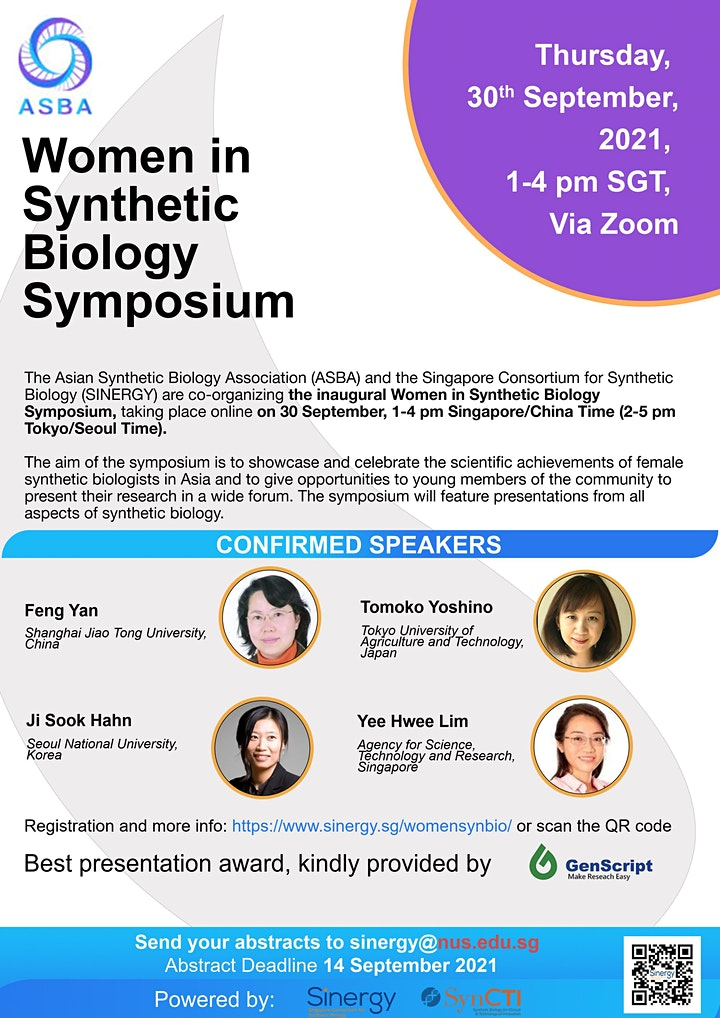 Inaugural  Women in  Synthetic Biology Symposium image