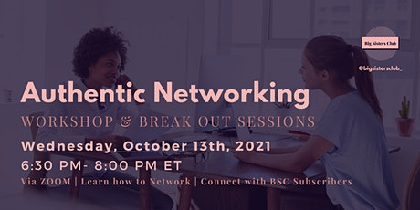 Workshop Event: Authentic Networking & Breakout Sessions tickets