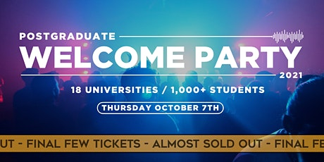 The Official Postgraduate Welcome Party / 2021 tickets