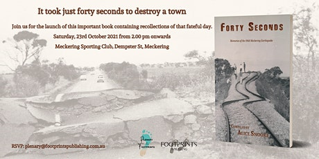 Book Launch: 'Forty Seconds: Memories of the 1968 Meckering Earthquake' tickets