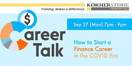 Career Talk: How to Start a Finance Career in the COVID Era tickets