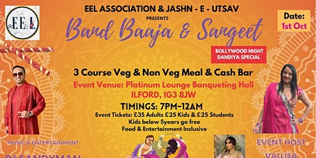 Band Baaja Sangeet - Bollywood  Navratri  Dinner and Dance Night tickets