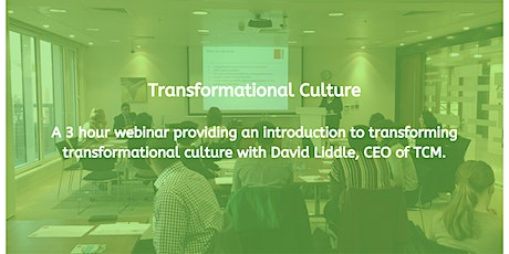 Transformational Culture tickets