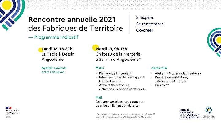 Image pour Rencontre annuelle 2021 des Fabriques de Territoire