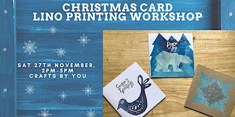 Christmas Lino Print Workshop tickets