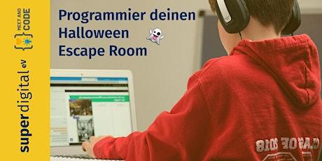 Programmier deinen Halloween Escape Room Tickets