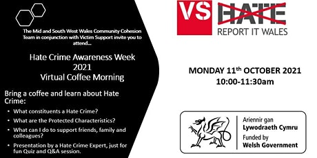 Virtual Hate Crime Awareness Coffee Morning tickets