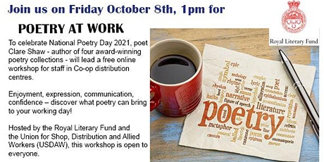 Poetry at Work: an USDAW/ RLF event tickets