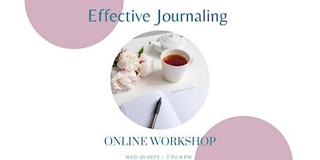 Effective Journaling tickets